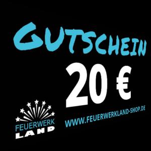 020 Euro Gutscheine Feuerwerkland 2016 - Feuerwerkland
