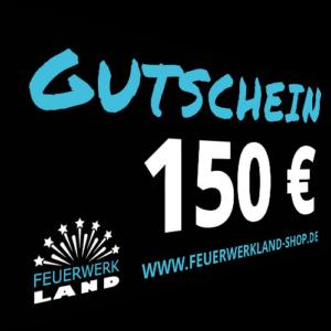 150 Euro Gutscheine Feuerwerkland 2016 - Feuerwerkland