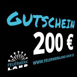 200 Euro Gutscheine Feuerwerkland 2016 - Feuerwerkland