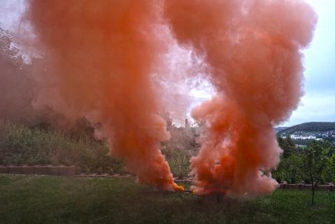 blackboxx jumbo rauchfackel orange e feuerwerkland shop - Feuerwerkland