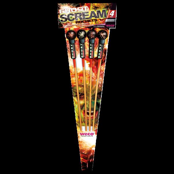 weco ghost scream rockets 4teilig feuerwerkland shop - Feuerwerkland