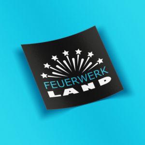 FWL Sticker quadrat - Feuerwerkland