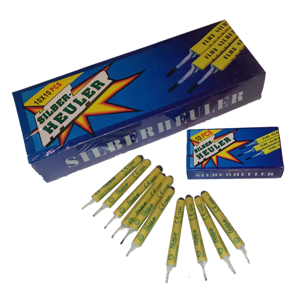 funke silberheuler luftpfeifer 100er leuchtfeuerwerk feuerwerkland shop.de - Feuerwerkland