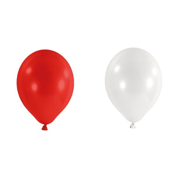 feuerwerkland luftballons rot weiß 50st 25cm feuerwerkland shop - Feuerwerkland