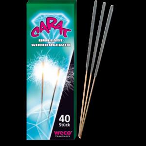 weco carat wunderkerzen 17cm 40stueck party zubehoer feuerwerkland shop - Feuerwerkland